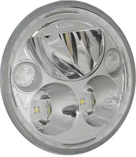 """Vision X 9910628 Single 5.75"""" Round Amber Halo VX LED Headlight with Low-High-Halo"""