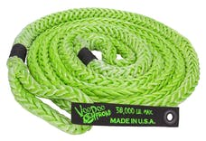 "VooDoo Offroad 1300001 7/8"" x 20' Truck/Jeep Kinetic Recovery Rope, Green, with rope bag"