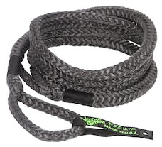 """VooDoo Offroad 1300024 3/4"""" x 30' Truck/Jeep Kinetic Recovery Rope, Black, with rope bag"""