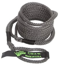 "VooDoo Offroad 1300031 1/2"" x 16' UTV Kinetic Recovery Rope, Black"