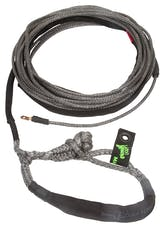 "VooDoo Offroad 1400009 1/4"" x 50' UTV Winch Line with Soft Shackle End, Black"