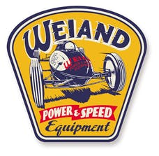 Weiand 10004WND Weiand Metal Power/Speed Sign