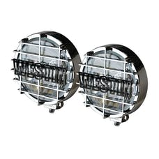 WESTiN Automotive 09-0500 6 in Quartz-Halogen Off-Road Lights w/Grid Chrome (Set of Two)