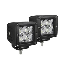WESTiN Automotive 09-12200A-PR XP Compact LED (4) 5W Cree 3 inch x 3 inch (set of 2) includes wiring harness wi
