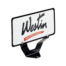 WESTiN Automotive 32-0055 Bull Bar License Plate Bracket Black