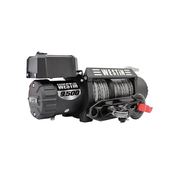 WESTiN Automotive 47-2103 9;500 lb. 6.6hp; 12V Off-Road series waterproof winch with 3/8 inch synthetic ro