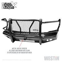 WESTiN Automotive 58-31175 HDX Bandit Front Bumper Black