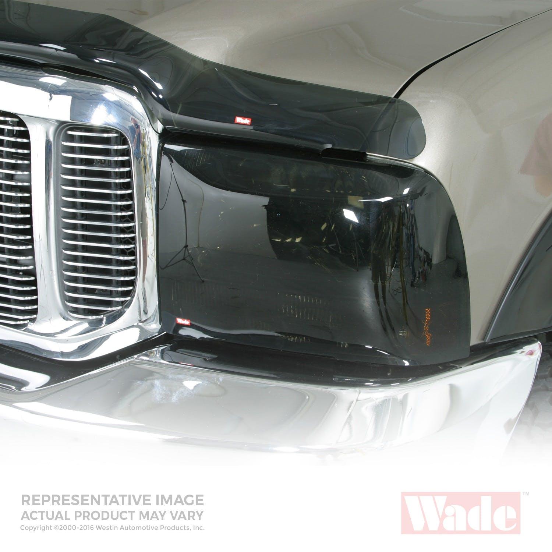 Pair Westin Wade 72-36274 Smoke Tint Light Guard Headlight Cover