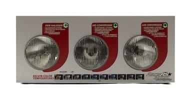 Halogen vs HID vs LED Headlight Countertop Display-HIDLED-DISPLAY