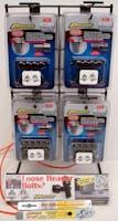 8 PIECE WEDGE-LOCKING HEADER BOLT DISPLAY-31071, self-standing wire rack,header bolts