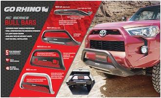 Go Rhino RC4 Bull Bars Header Card-EX0322