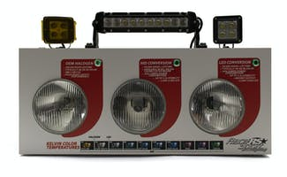HID vs LED & Light Bar/Spot Combo Countertop Display-RS-COMBO-DISPLAY