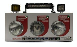 HID vs LED & Light Bar/Spot Combo Countertop Display-RS-COMBO-DISPLAY