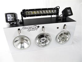 COMBO DI HID & LED HEADLIGHTS LED LIGHT BARS ALL IN ONE W SUPPLY SPLAY-RS-COMBO-DISPLAY