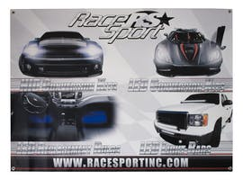 Race Sport Lighting Vinyl Wall Banner-RSWBANNER