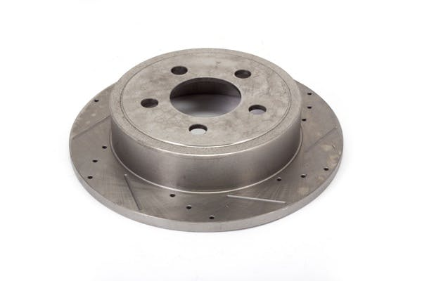 Alloy USA 11352 Disc Brake Rotors (2), 12 in, Drilled/Slotted; 03-06 Jeep TJ/02-07 KJ