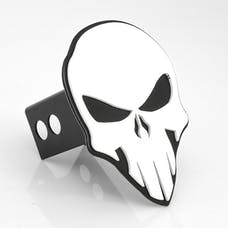 AMI Styling 1042WK Skull Style White on Black Hitch Cover