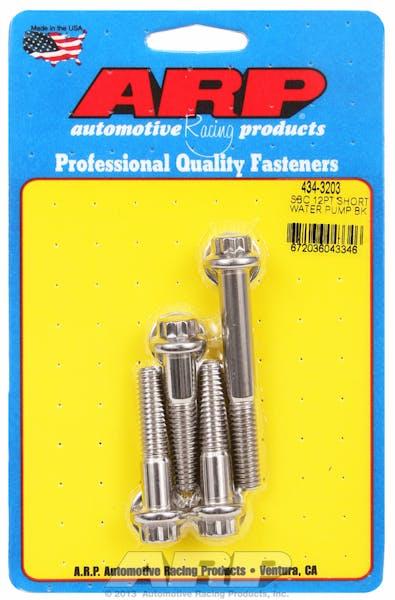 ARP 434-3203 12pt short water pump bolt kit