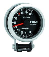 AutoMeter Products 3700 Gauge; Tachometer; 3 3/4in.; 10k RPM; Pedestal w/Red Line; Sport-Comp