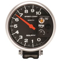 AutoMeter Products 3903 Gauge; Tachometer; 5in.; 10k RPM; Pedestal w/int. Shift-Lite; Sport-Comp