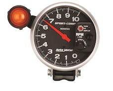 AutoMeter Products 3904 Gauge; Tachometer; 5in.; 10k RPM; Pedestal w/ext. Shift-Lite; Sport-Comp