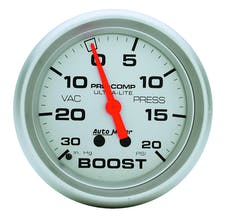 AutoMeter Products 4401 Gauge; Vac/Boost; 2 5/8in.; 30inHg-20psi; Mechanical; Ultra-Lite