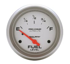 AutoMeter Products 4417 GAUGE; FUEL LEVEL; 2 5/8in.; 0OE TO 30OF; ELEC; ULTRA-LITE