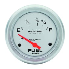 AutoMeter Products 4418 Gauge; Fuel Level; 2 5/8in.; 16OE to 158OF; Elec; Ultra-Lite