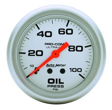 AutoMeter Products 4421 Gauge; Oil Pressure; 2 5/8in.; 100psi; Mechanical; Ultra-Lite