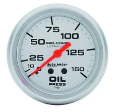AutoMeter Products 4423 Gauge; Oil Pressure; 2 5/8in.; 150psi; Mechanical; Ultra-Lite