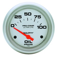 AutoMeter Products 4427 Gauge; Oil Pressure; 2 5/8in.; 100psi; Electric; Ultra-Lite
