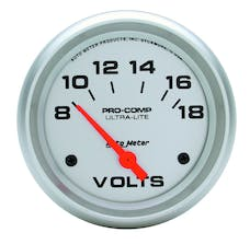AutoMeter Products 4491 Voltmeter  8-18 Volts