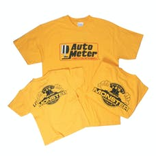 AutoMeter Products 0401L T-Shirt, Children'S Small, Yellow, 'L'Il Monster'