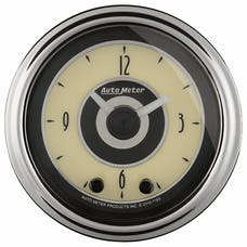 "AutoMeter Products 1184 2"" CLOCK, Illuminated, Analog, Cruiser AD"