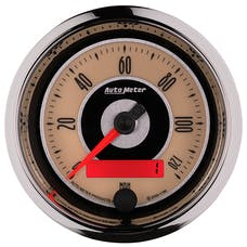 """AutoMeter Products 1186 3-3/8"""" Speedo, 120 MPH, Programmable, Cruiser"""