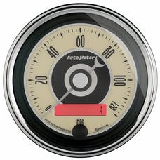 "AutoMeter Products 1187 3-3/8"" Speedo, 120 MPH, Programmable, Cruiser AD"