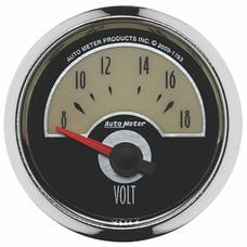 """AutoMeter Products 1193 2-1/16"""" Voltmeter, 8-18 SSE"""