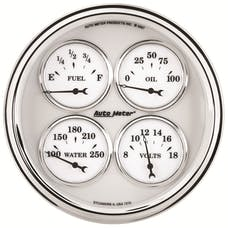 AutoMeter Products 1210 Old Tyme White II Quad Gauge