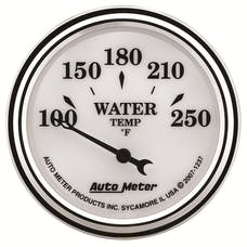 AutoMeter Products 1237 GAUGE; WATER TEMP; 2 1/16in.; 250deg.F; ELEC; OLD TYME WHITE II