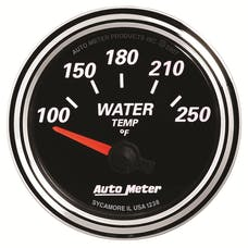 AutoMeter Products 1238 GAUGE; WATER TEMP; 2 1/16in.; 250deg.F; ELEC; DESIGNER BLACK II