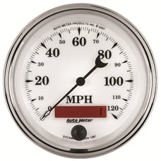 AutoMeter Products 1287 Old Tyme White II In-Dash Electric Speedometer
