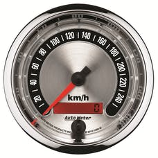 AutoMeter Products 1288-M GAUGE; SPEEDO.; 3 3/8in.; 260KM/H; ELEC. PROGRAMMABLE; AMERICAN MUSCLE