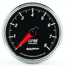 AutoMeter Products 1296 Designer Black II 3-3/8in Tachometer 0-8 000 RPM
