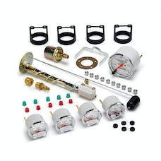 AutoMeter Products 1300-00408 Arctic White 5 Pc Kit Box W/Mech Speedo, GM
