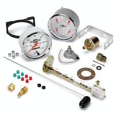 """AutoMeter Products 1303-00408 5"""" Quad Gauge & Speedo Arctic White, GM"""