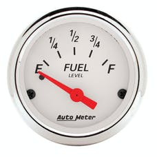 AutoMeter Products 1318 Arctic White Series Fuel Level Gauge (0 Ω Empty, 30 Ω Full, 2-1/16 in.)