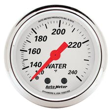 "AutoMeter Products 1332 2"" Water Temperature Guage, 120-240`F Mechanical, Arctic White"