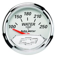 AutoMeter Products 1337-00408 GAUGE; WATER TEMP; 2 1/16in.; 250deg.F; ELEC; CHEVROLET HERITAGE BOWTIE