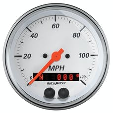 AutoMeter Products 1349 Gauge; Speedometer; 3 3/8in.; 120mph; GPS; Arctic White