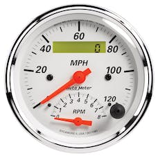 AutoMeter Products 1381 Gauge; Tach/Speedo; 3 3/8in.; 120mph/8k RPM; Elec. Program.; Arctic White